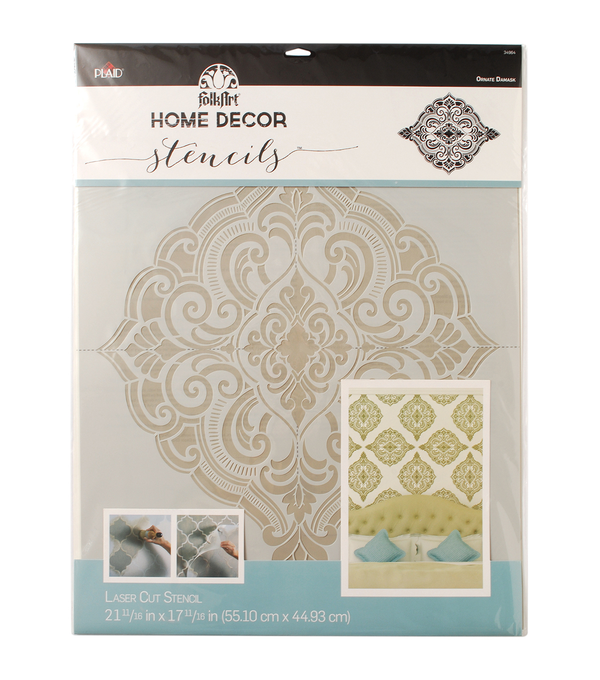 Decorative Wall Stencils folkart home decor wall stencil-ornate damask - joann | joann
