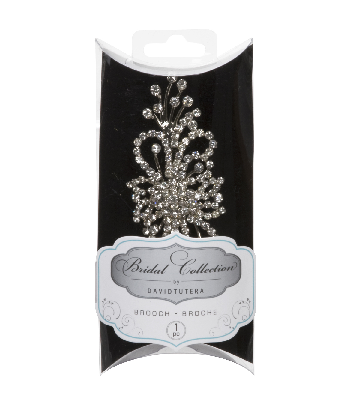 David Tutera 2\u0022 Rhinestone Brooch-1PK/Spray