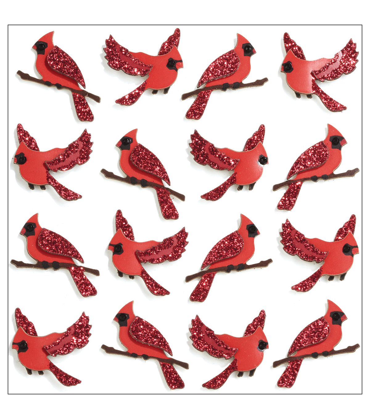 Jolee\u0027s Mini Repeats Stickers-Cardinal