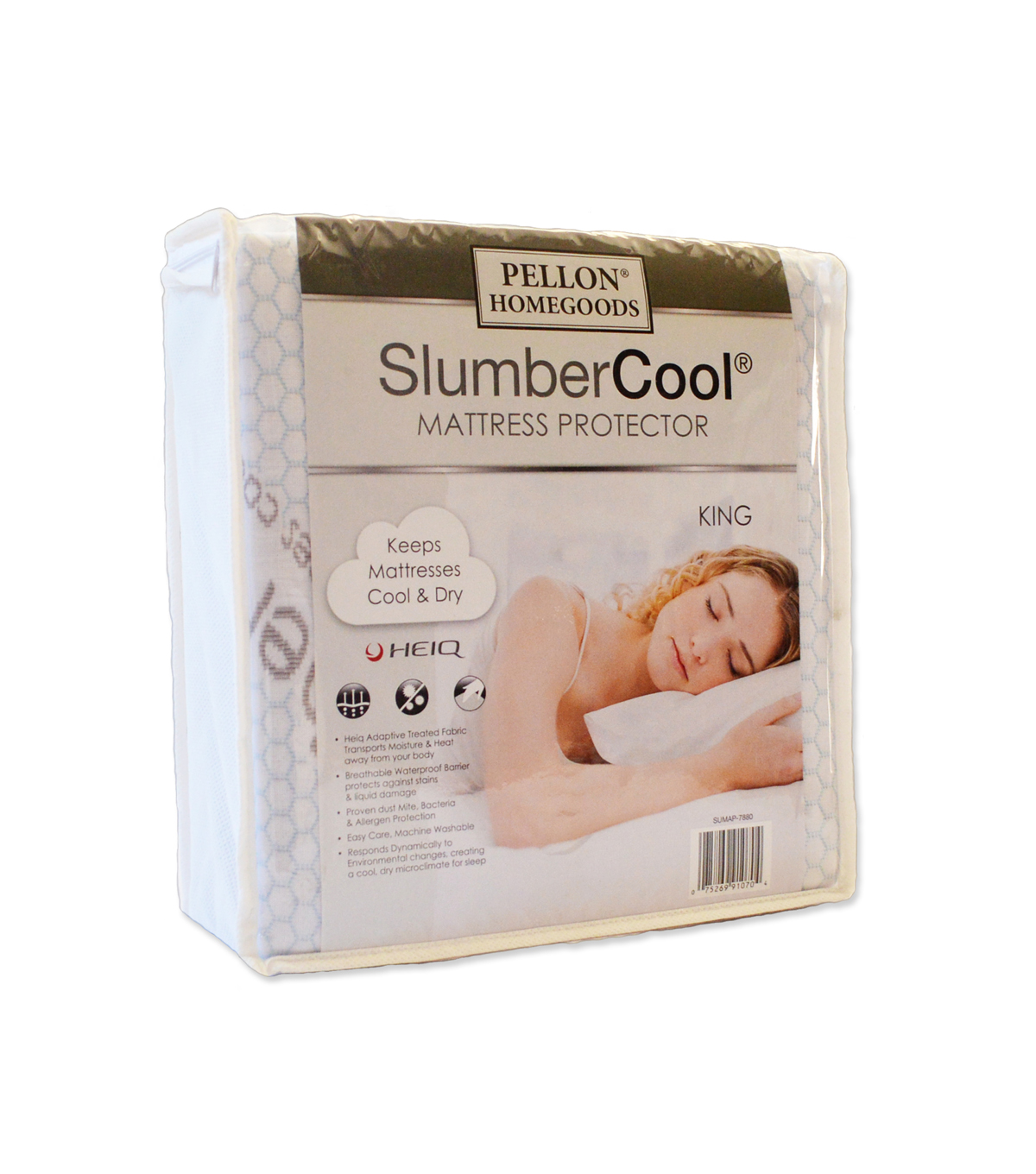 Pellon® Slumber Cool Mattress Protector King 78\u0022 X 80\u0022