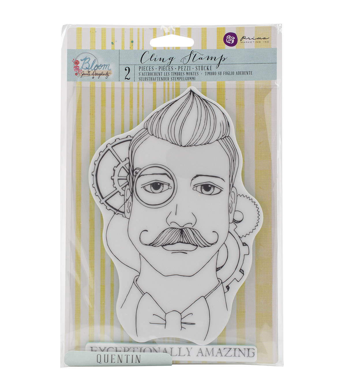 Prima Marketing Bloom Quentin Cling Rubber Stamps