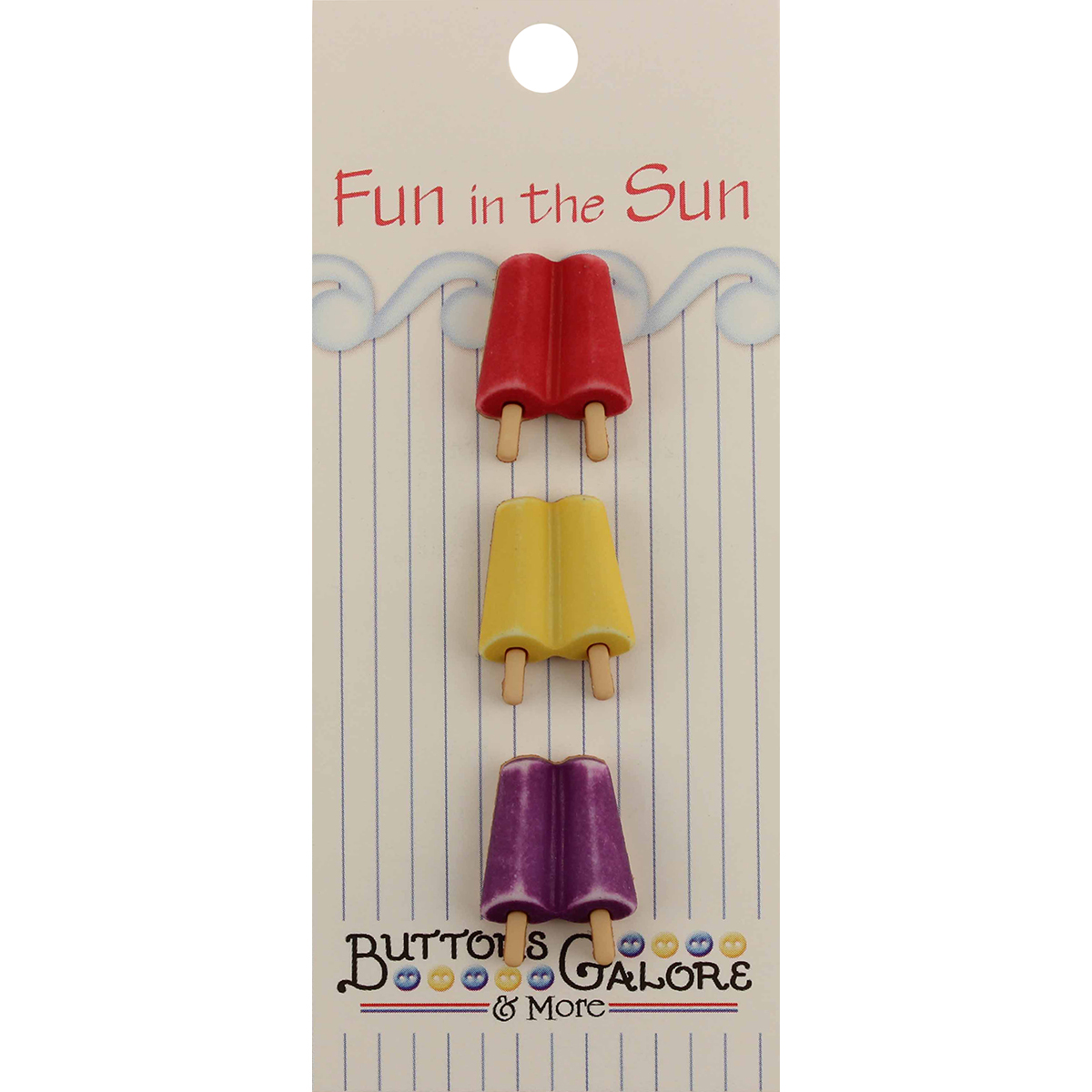 Fun In The Sun Buttons-Popsicles