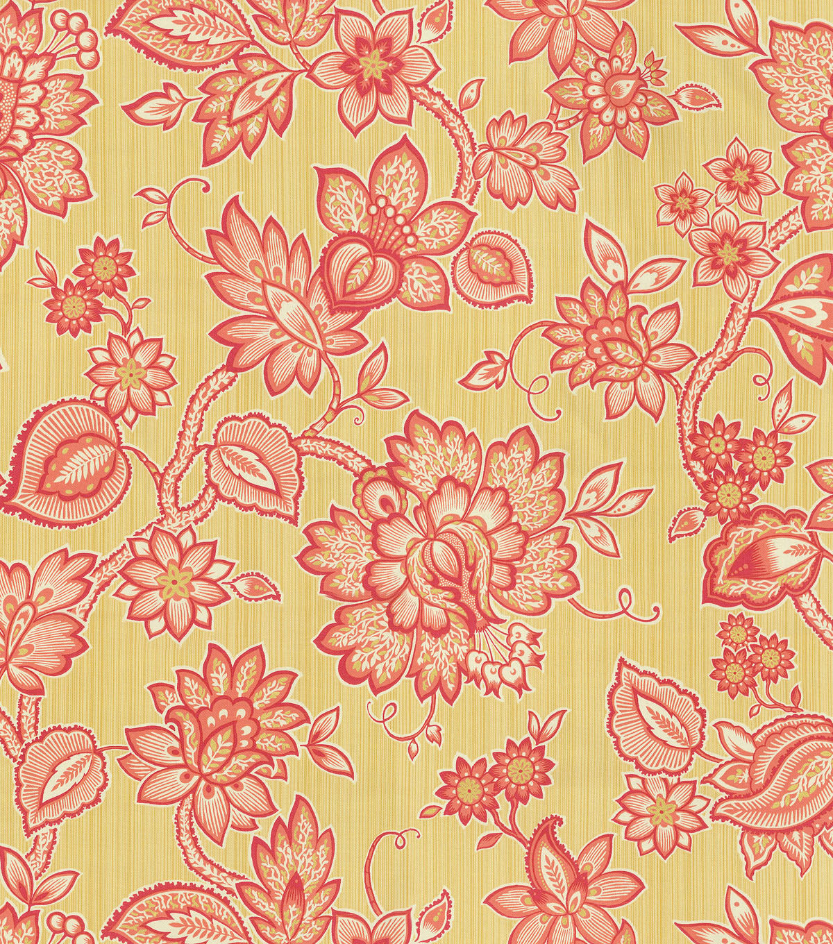 Waverly Print Fabric 54\u0022-Floral Flair/Golden