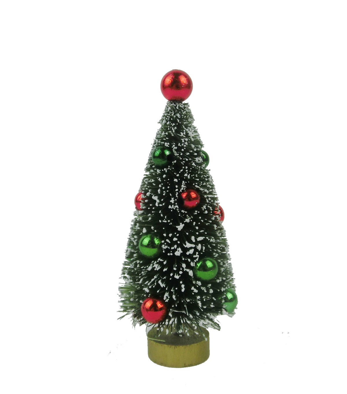 Maker\u0027s Holiday Christmas 4\u0022 Tree with Ornaments-Red & Green
