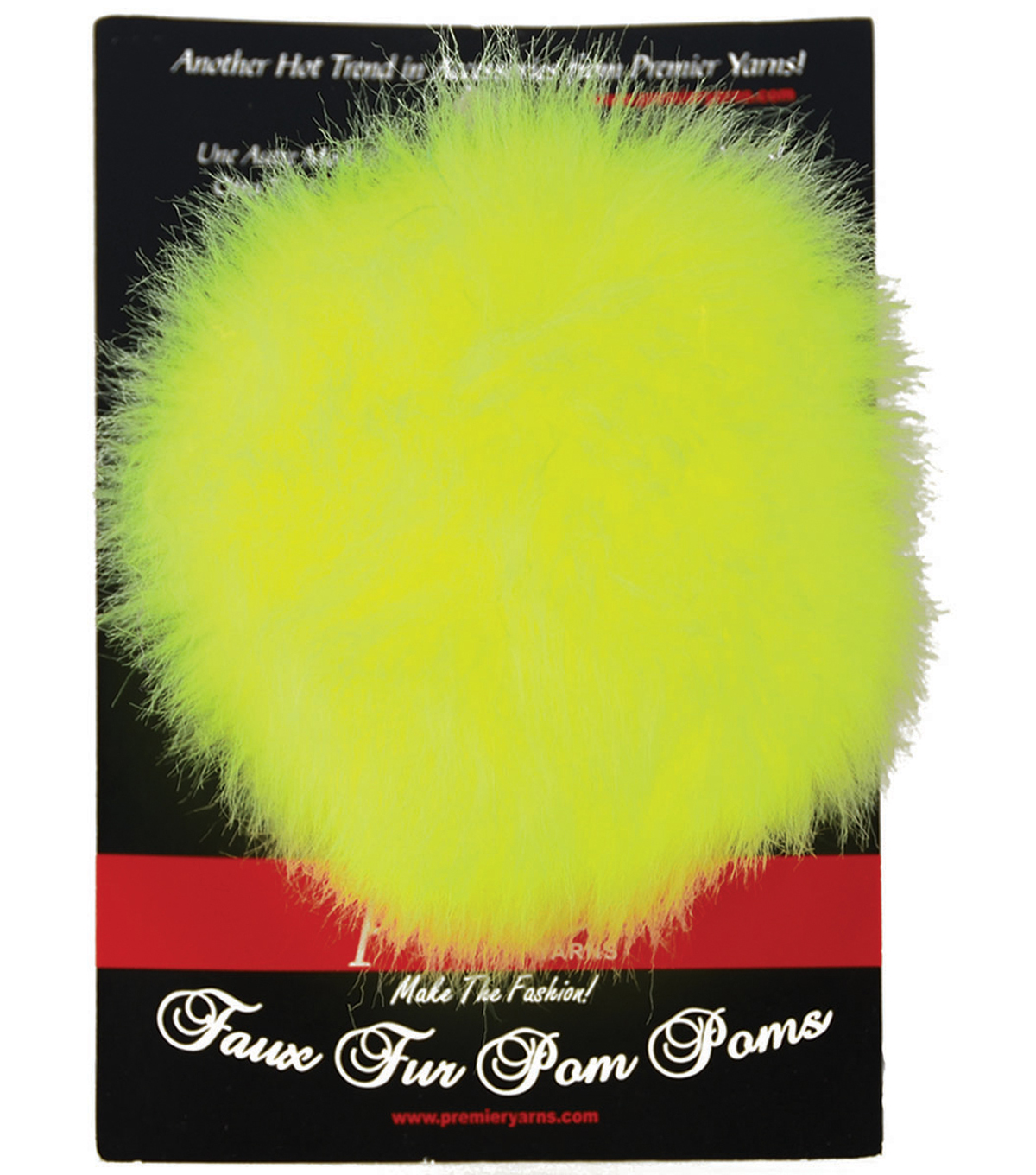 Faux Fur Pom Pom-Lemon Lime