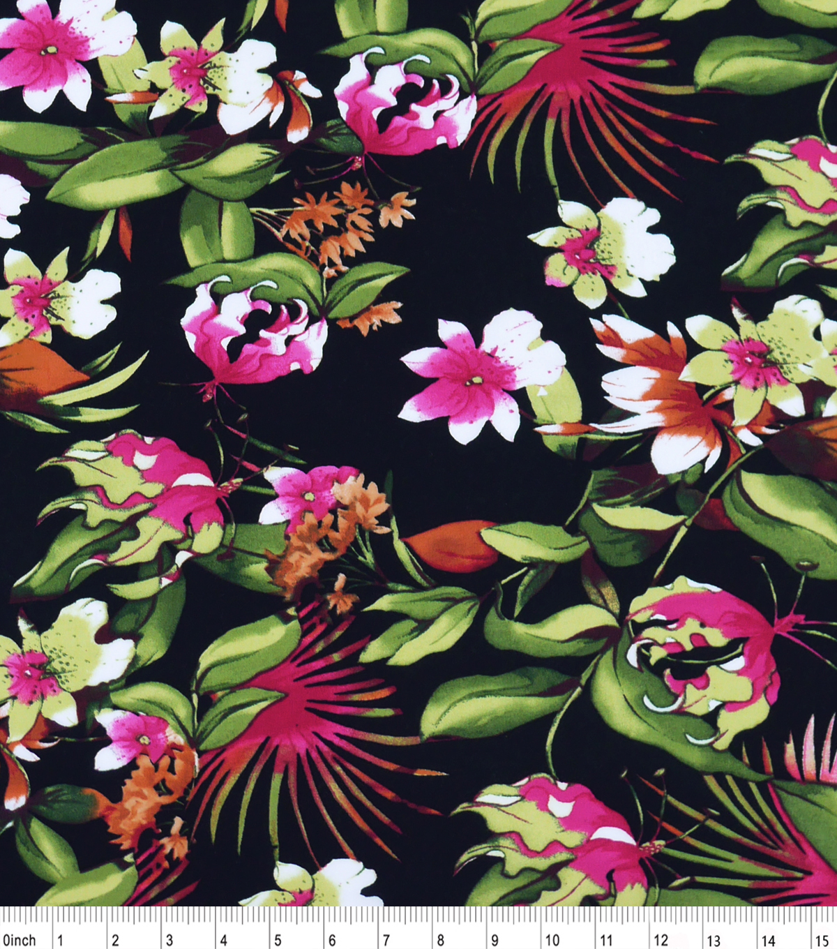 "Shirting Cotton Fabric 53""-Floral"