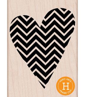 Hero Arts Patterned Heart Mount Stamp