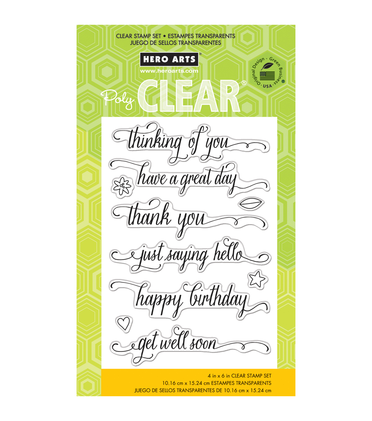 Hero Arts Clear stamps Messages With Flourish