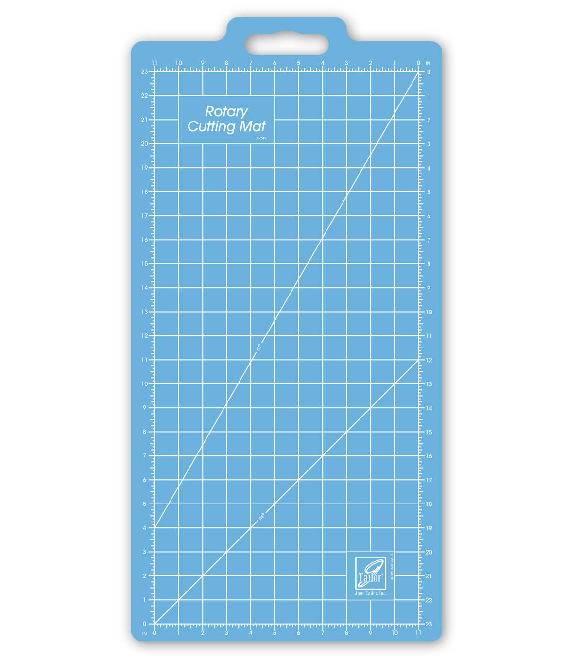 "June Tailor Gridded Rotary Mat-11""x23"""