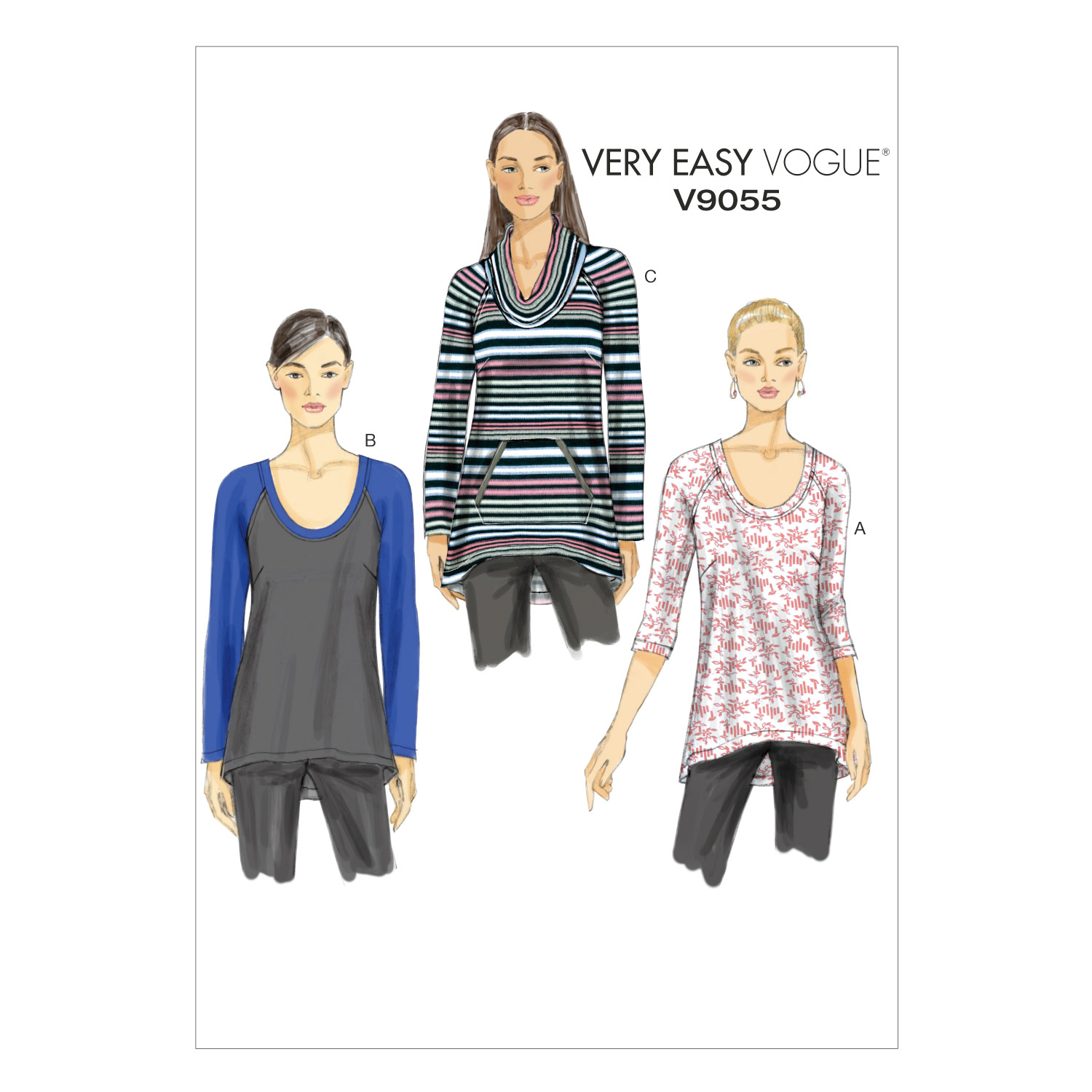 Vogue Patterns Misses Top-V9055