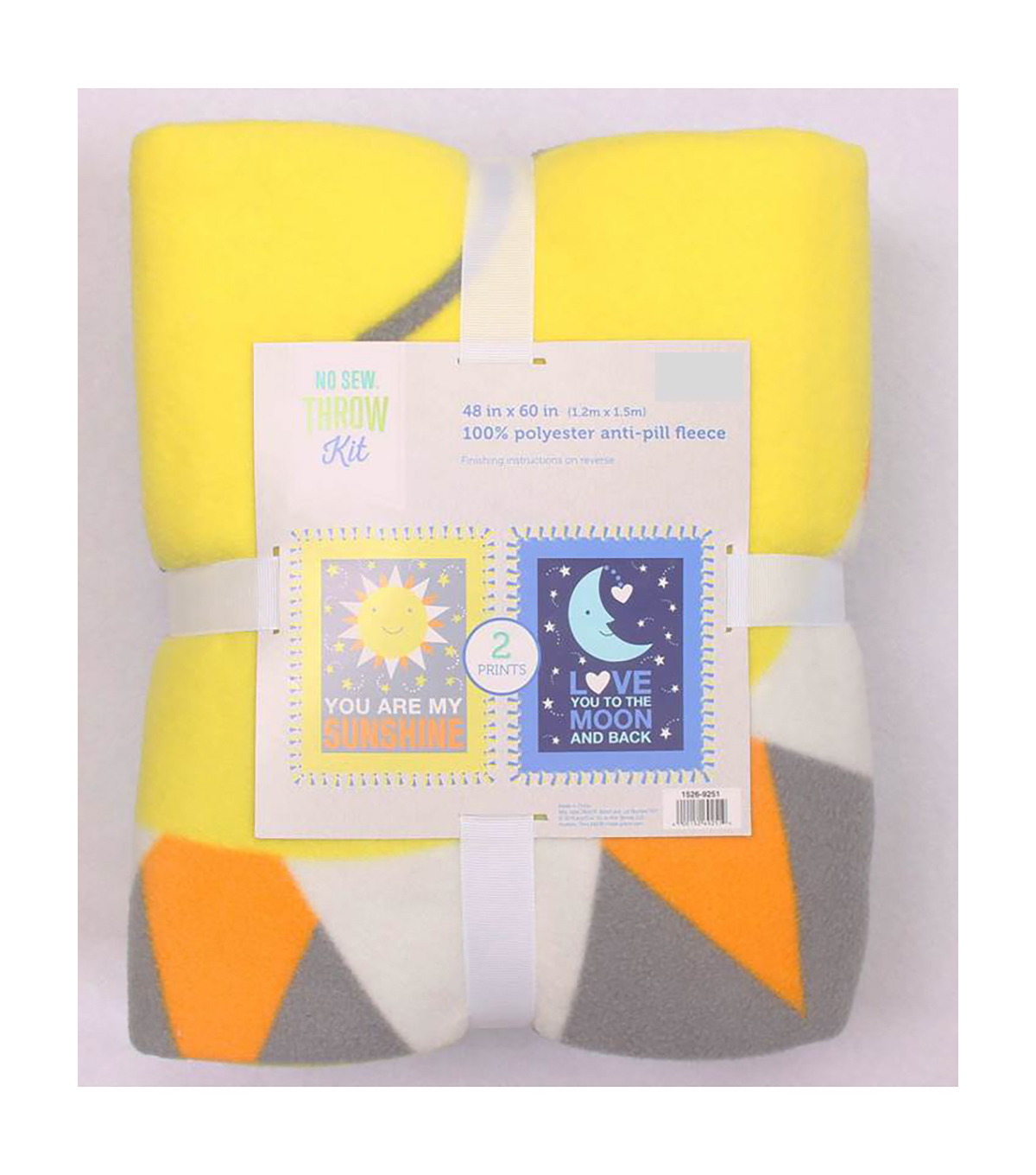 "No-Sew Throw Fleece Fabric 48""-Sunshine And Moon Panel"