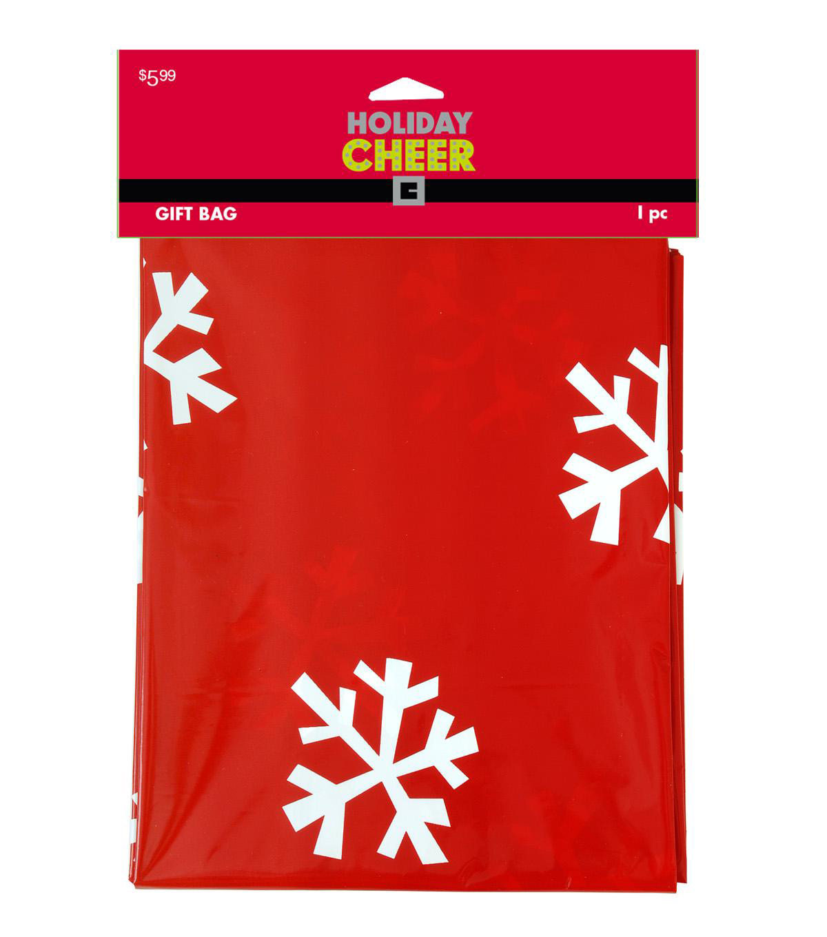 Holiday Cheer Jumbo Plastic Gift Bag