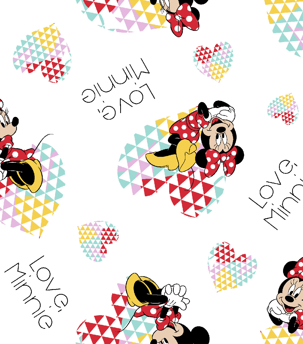 Disney® Minnie Mouse Flannel Fabric 42\u0022-Love