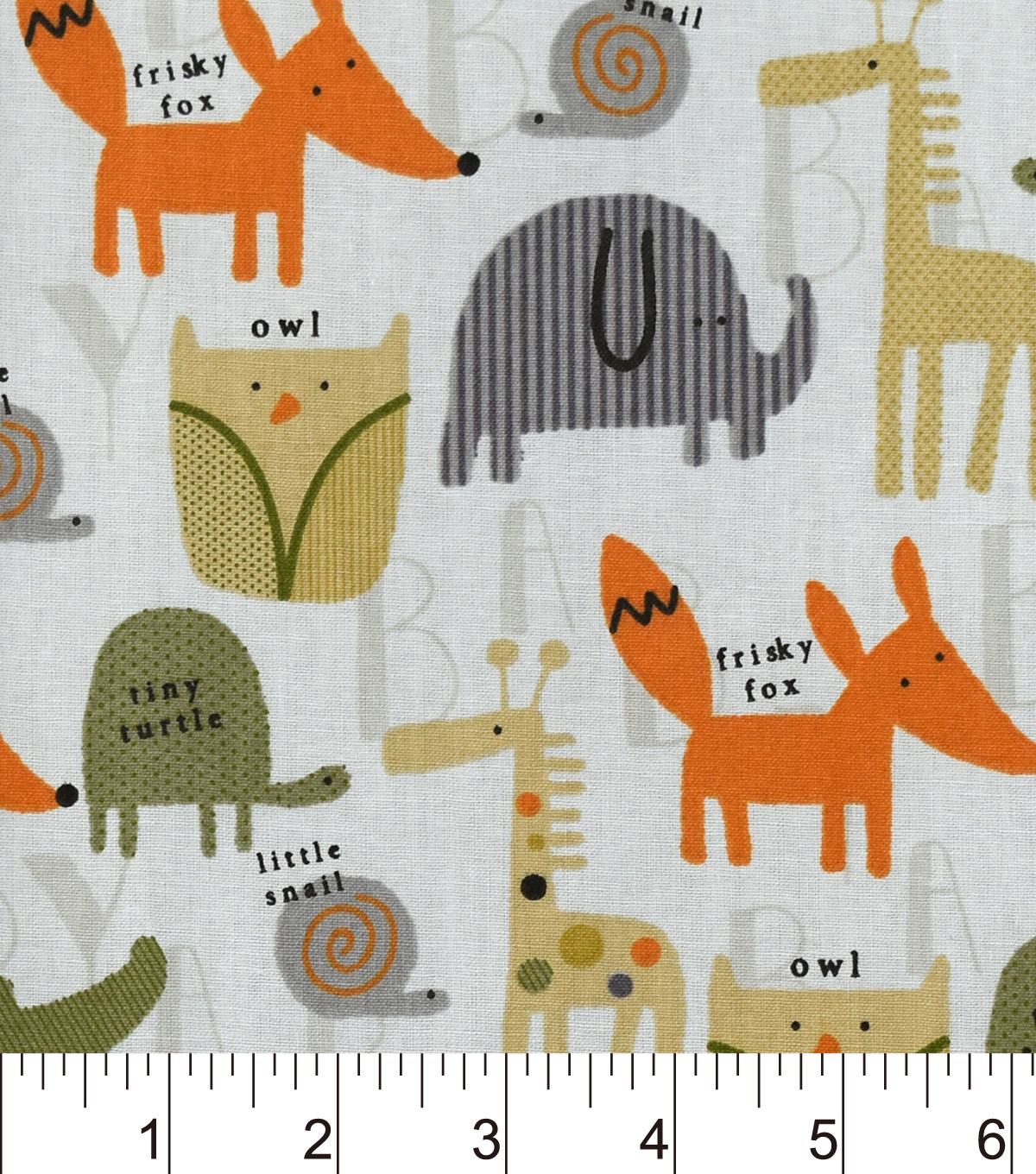 "Nursery Cotton Fabric 43""-Allover Animal"
