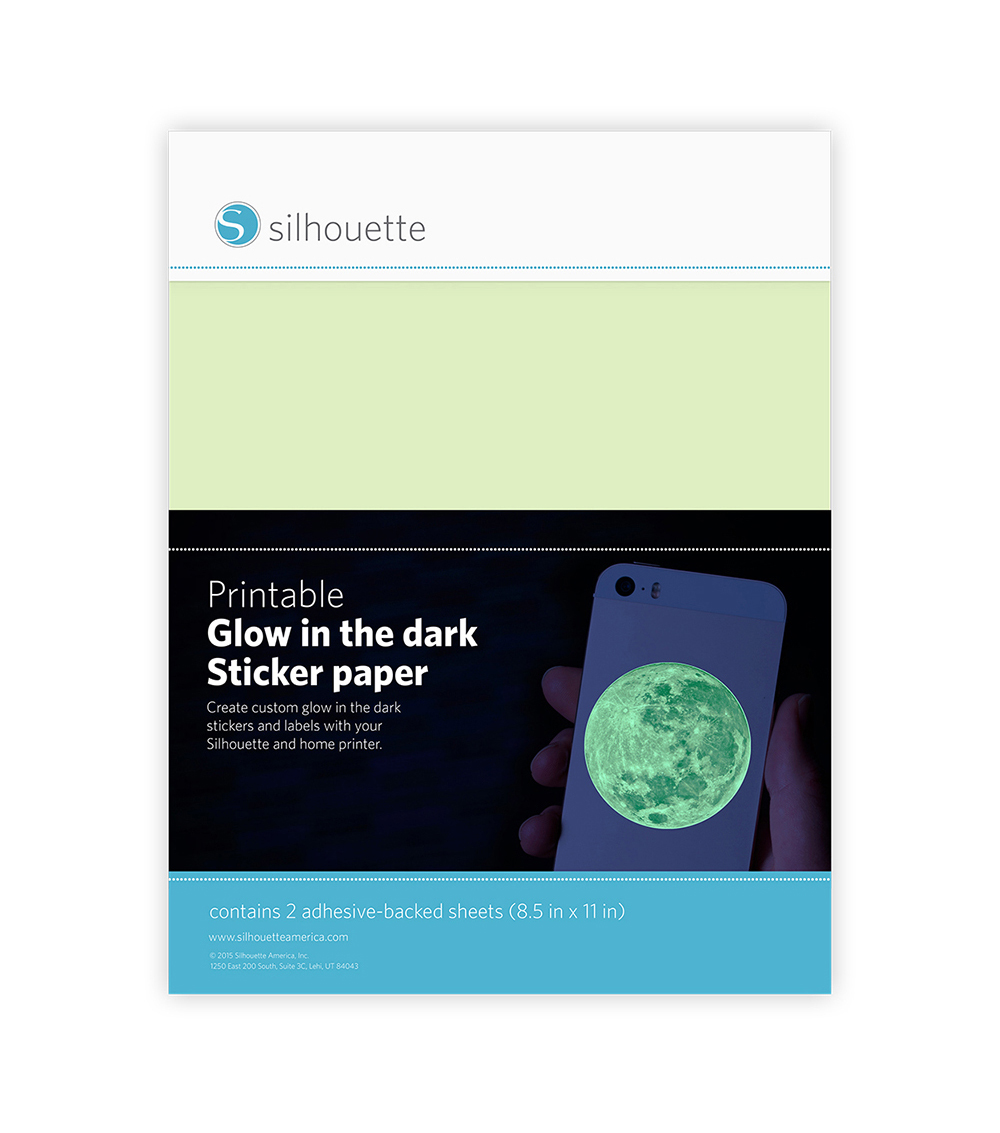 Silhouette of America® Printable Sticker Paper-Glow-In-The Dark