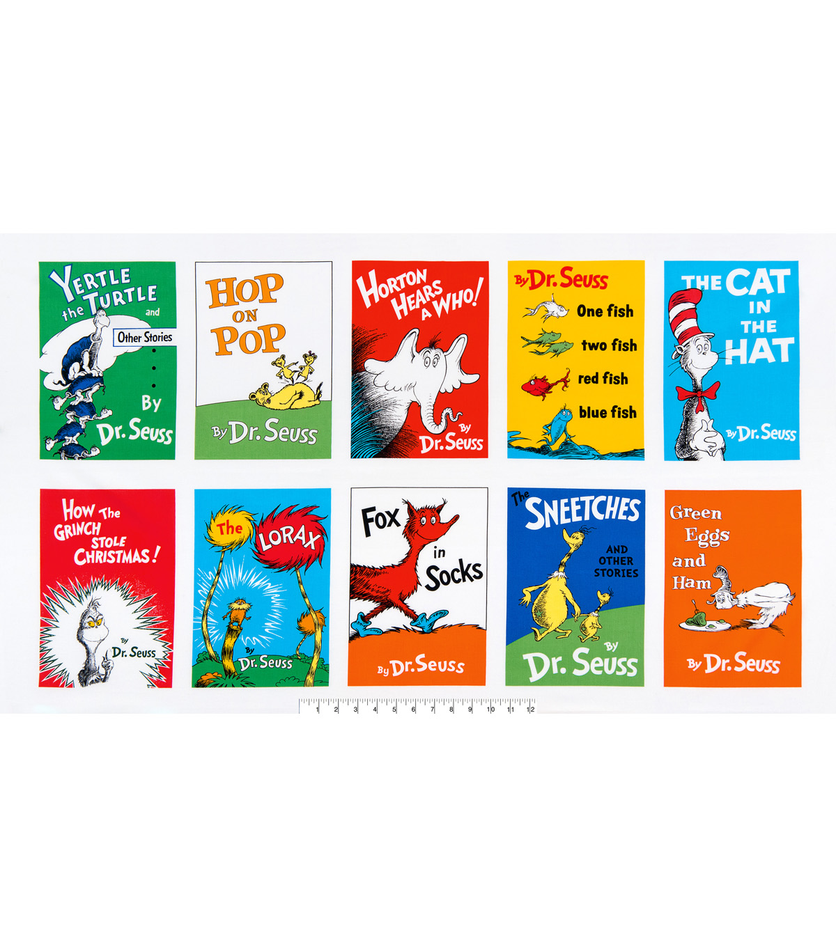 Dr. Seuss™ Cotton Fabric 44\u0022-Book Cover Panel