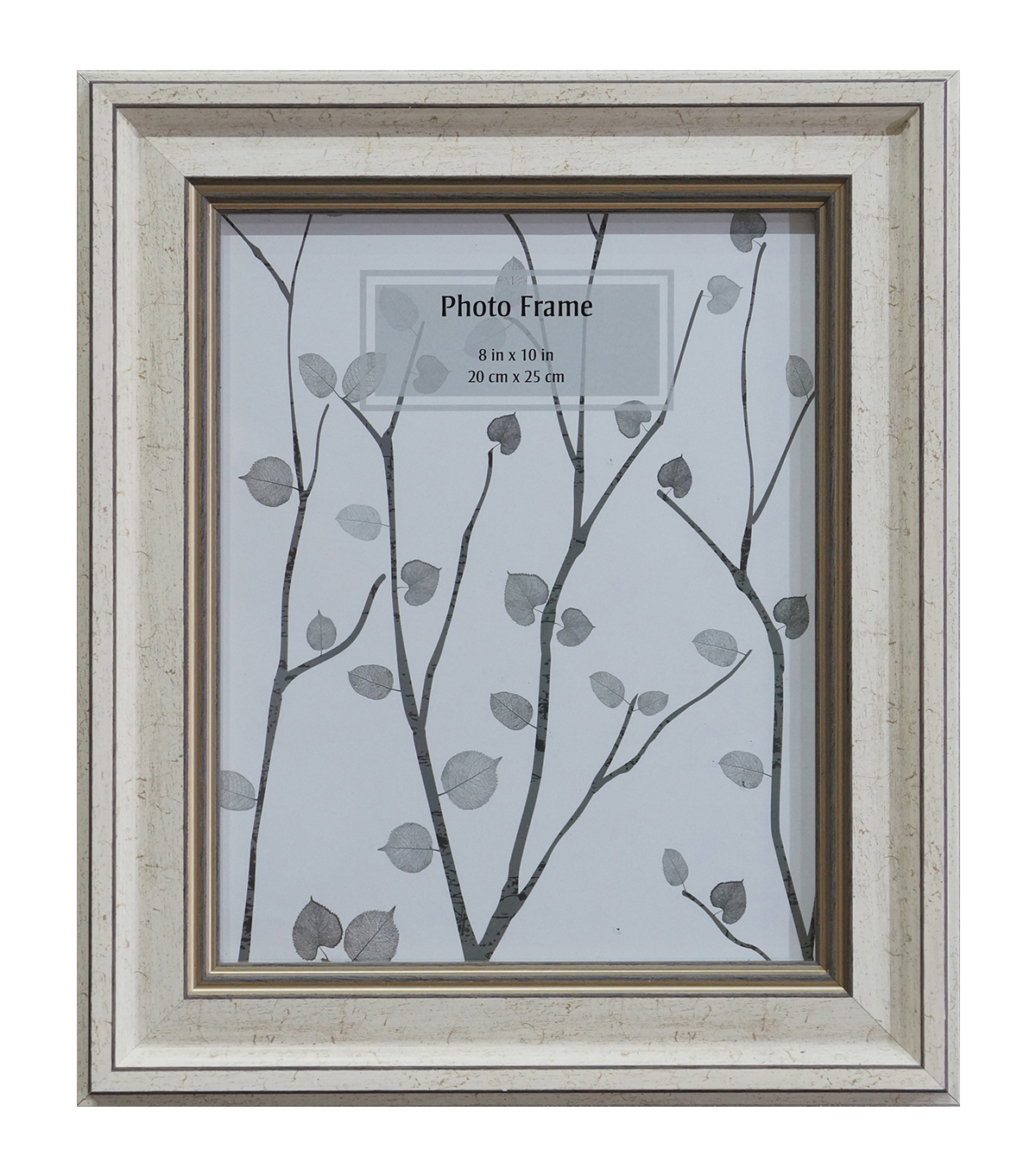 Wooden Tabletop Frame 8''x10''-Cream & Silver