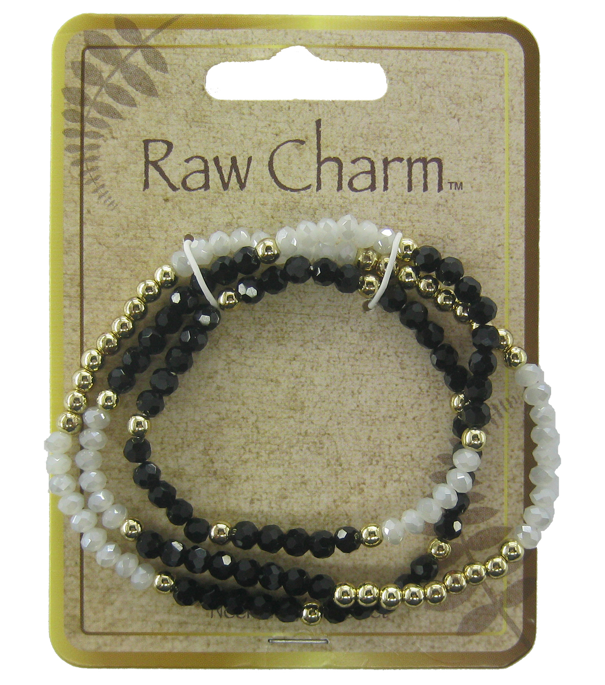Naturals Raw Charm Black White Necklace