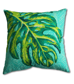 Summer Sol Square Pillow-Monstera Leaf