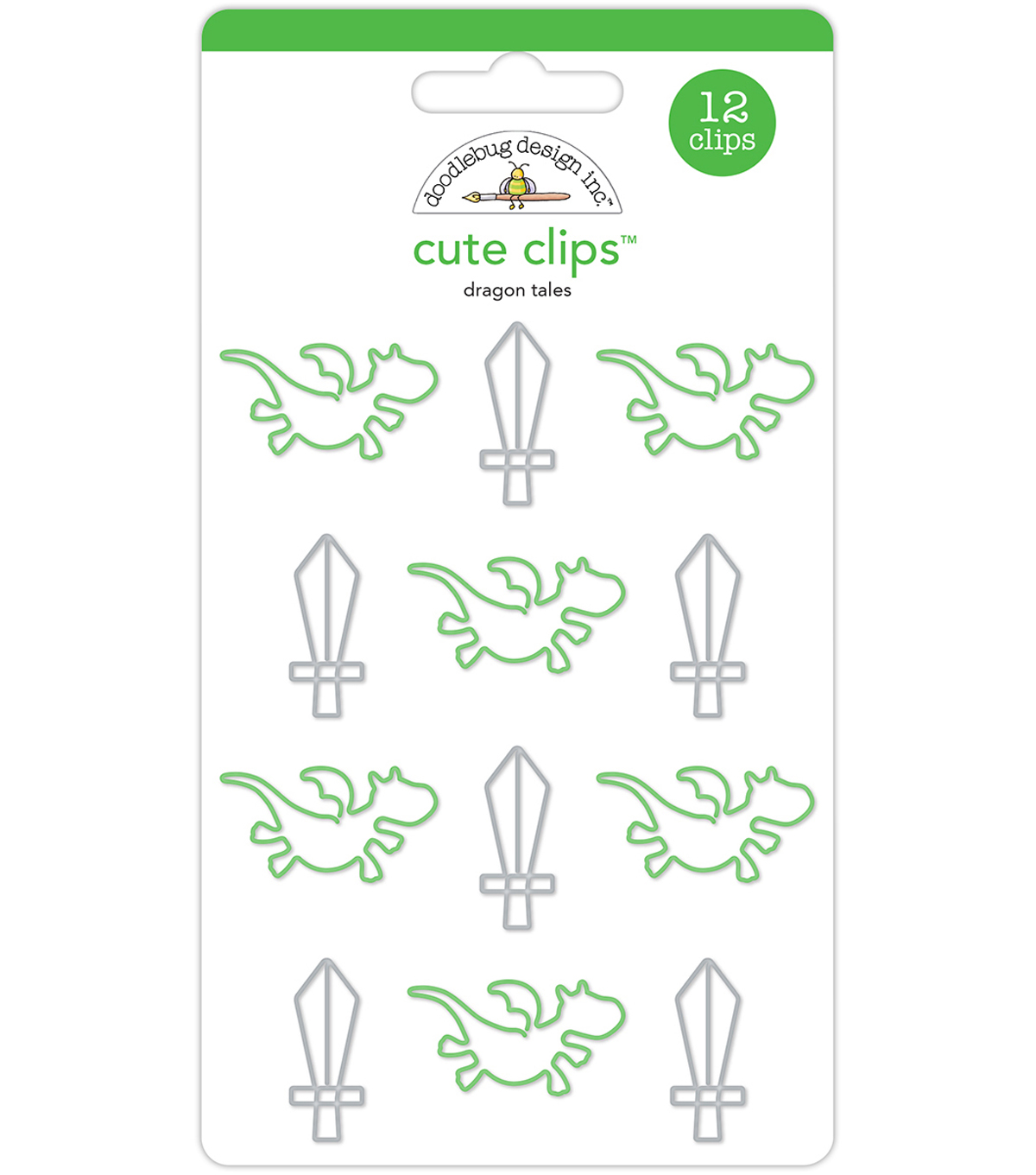Doodlebug Cute Clips-Dragon Tails