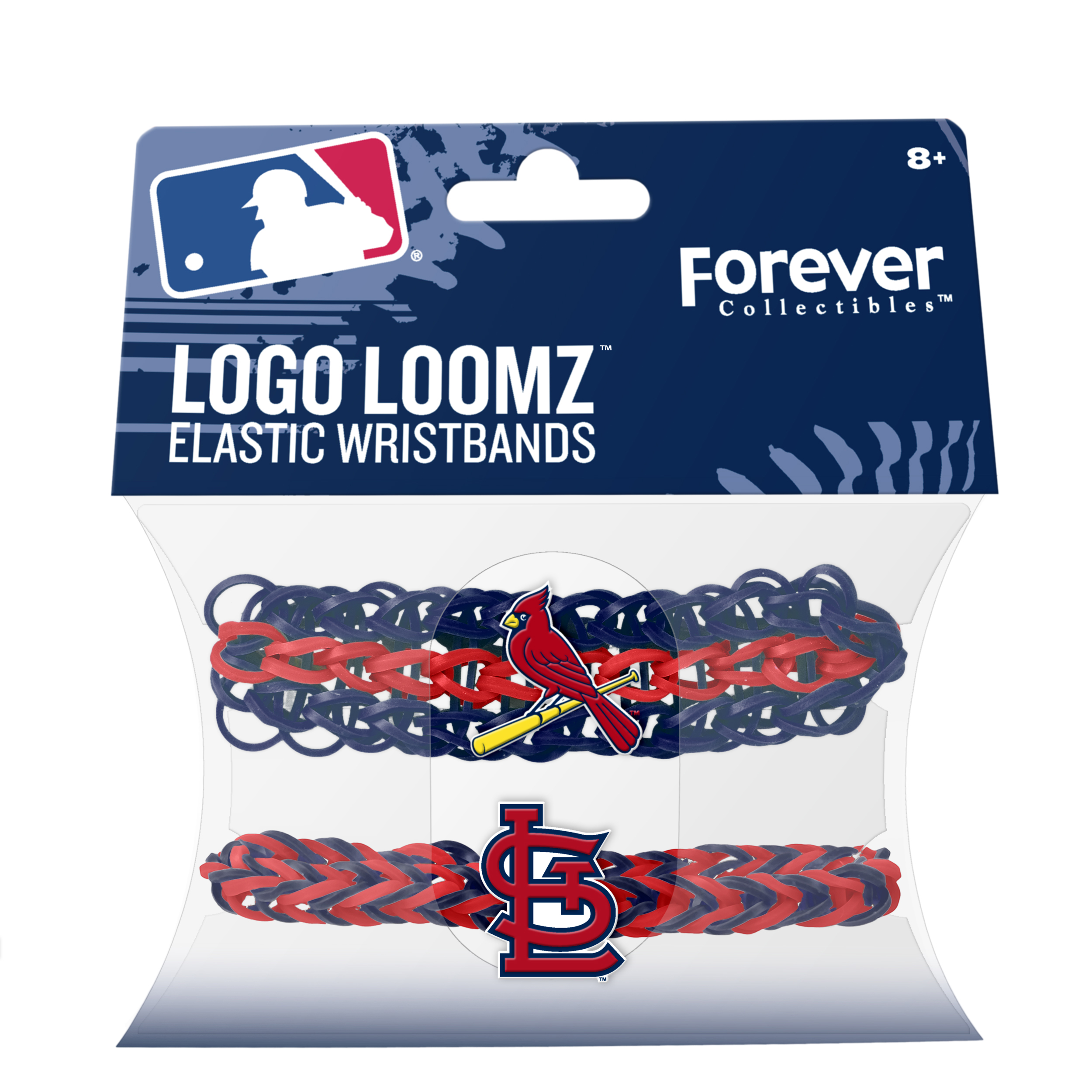 Forever Collectibles Logo Loomz Premade Wristband St. Louis Cardinals