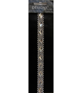 Mark Richards Designs 12\u0022 Rhinestone Strip Iron-On