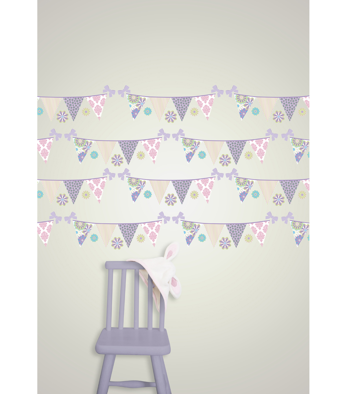 Wall Pops Patchwork Daisy Stripe Decals, 24 Feet