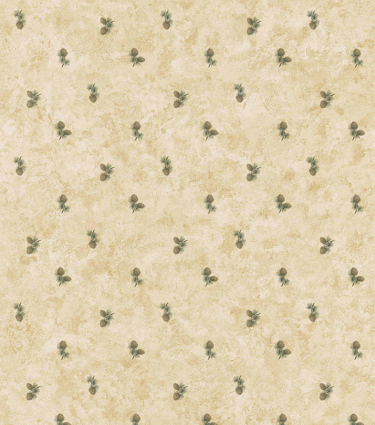 Oxford Beige Pinecones Wallpaper Sample