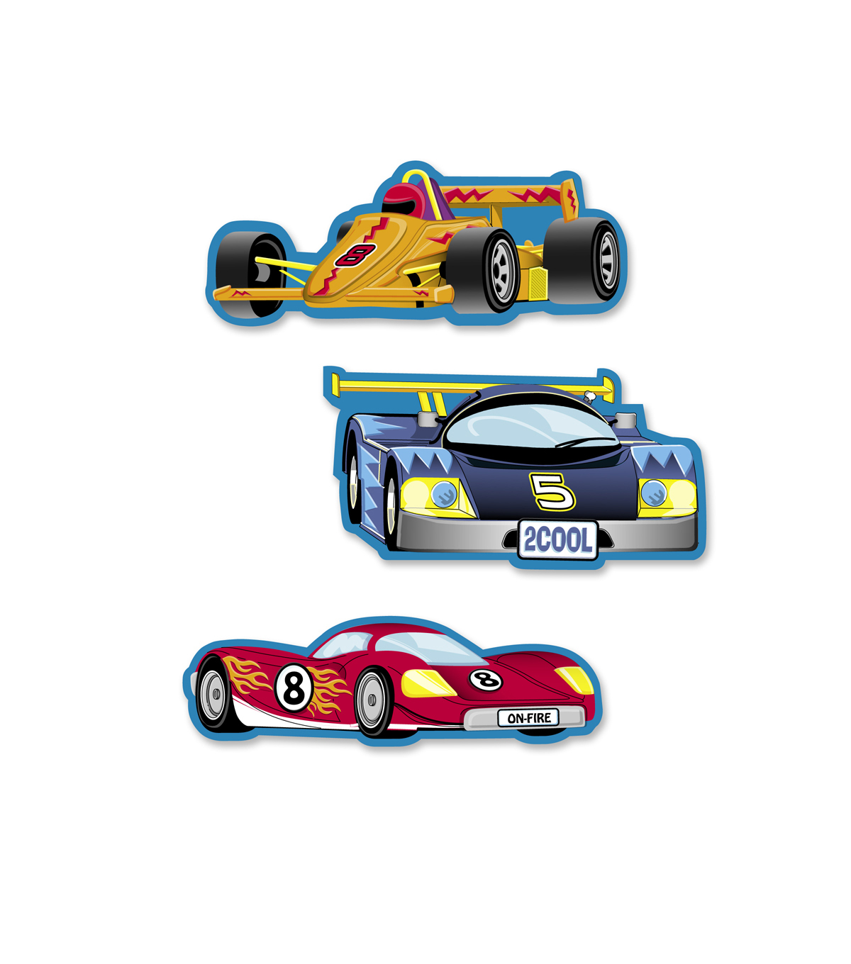 Busy Kids Learning Sticker Packs-Race Cars