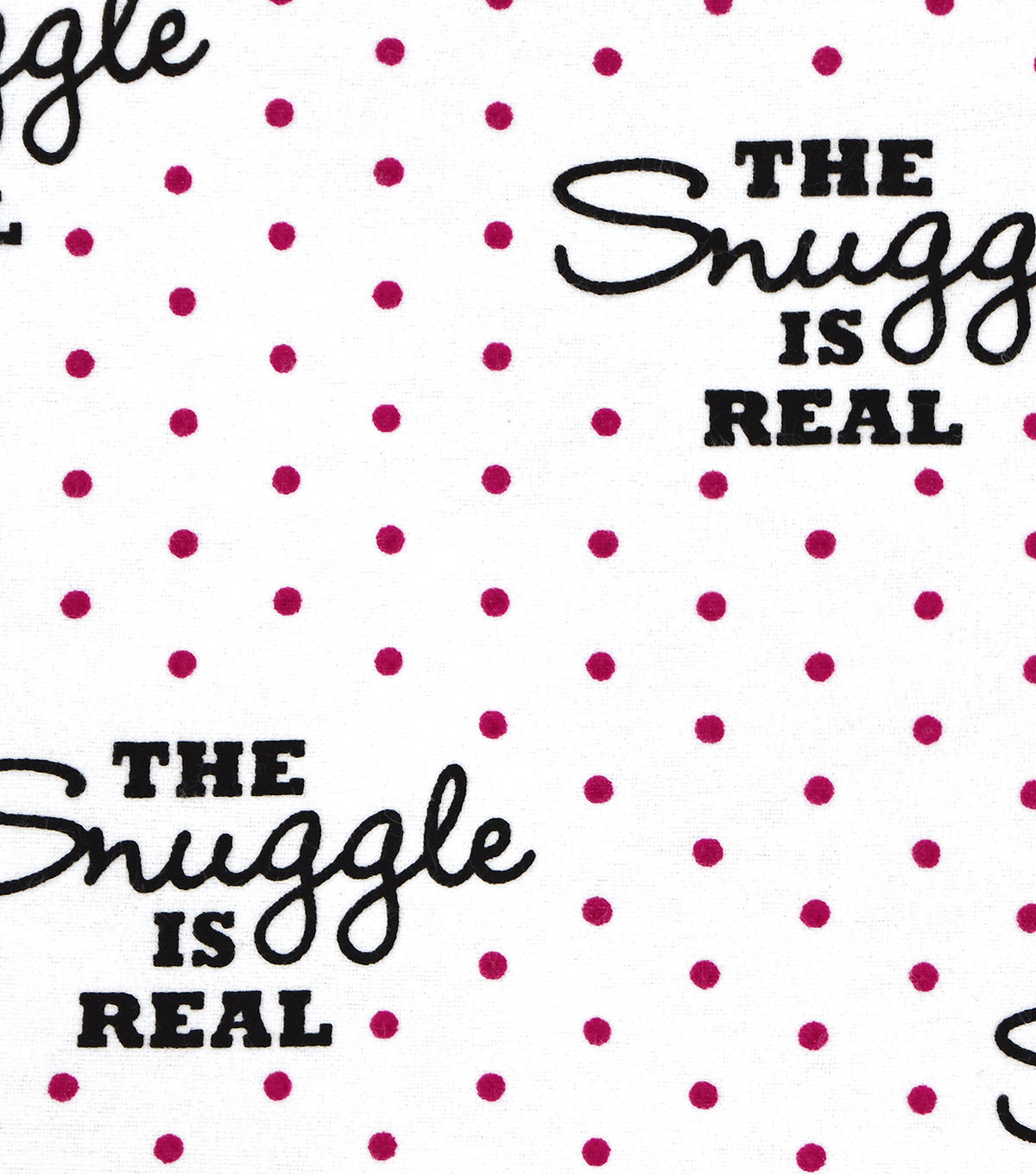 Snuggle Flannel Fabric 42\u0027\u0027-Pink Dots & The Snuggle is Real