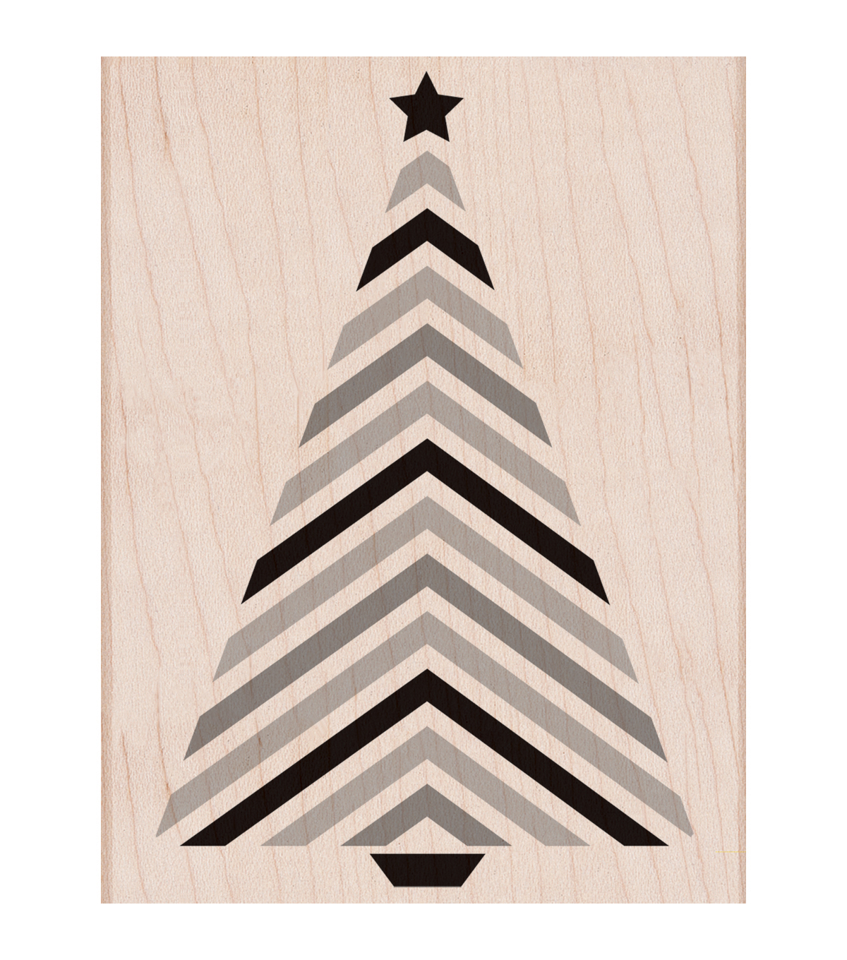 Hero Arts® Wood Mounted Rubber Stamp-Striped Tree with Star