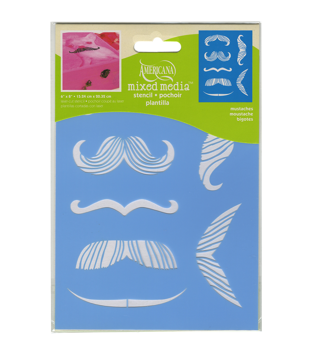 DecoArt Mustaches Decor Stencil 6''x8''