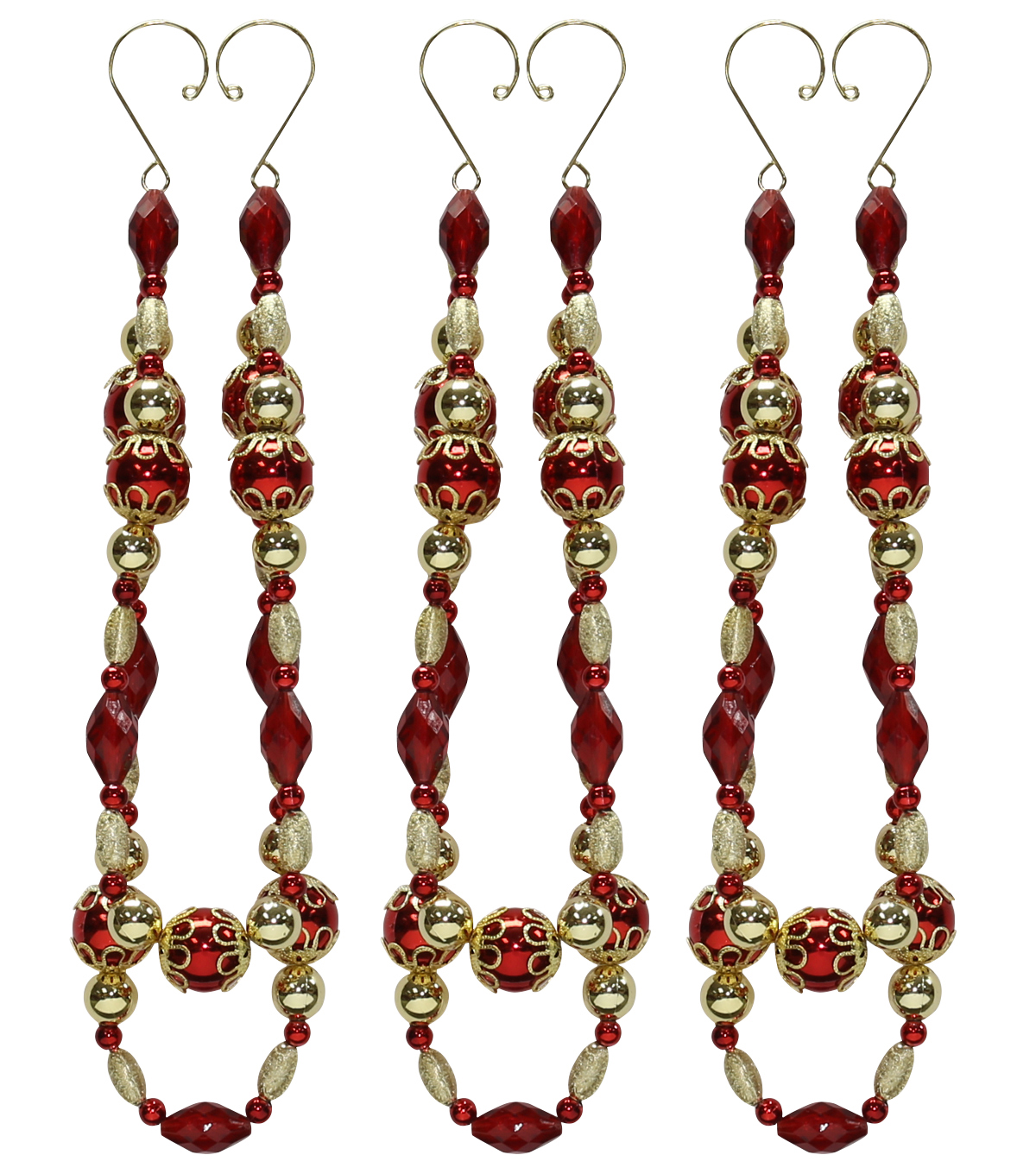 Maker\u0027s Holiday 3ct Chandelier Swag-Gold & Red