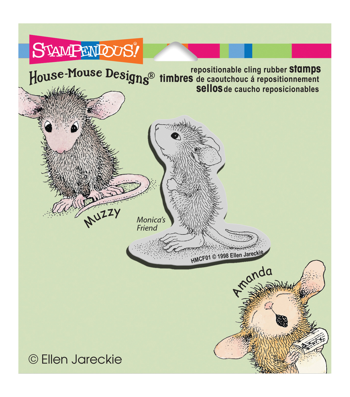 Stampendous House Mouse Cling Rubber Stamp 3.5\u0022X4\u0022 Sheet-Hopeful Mouse