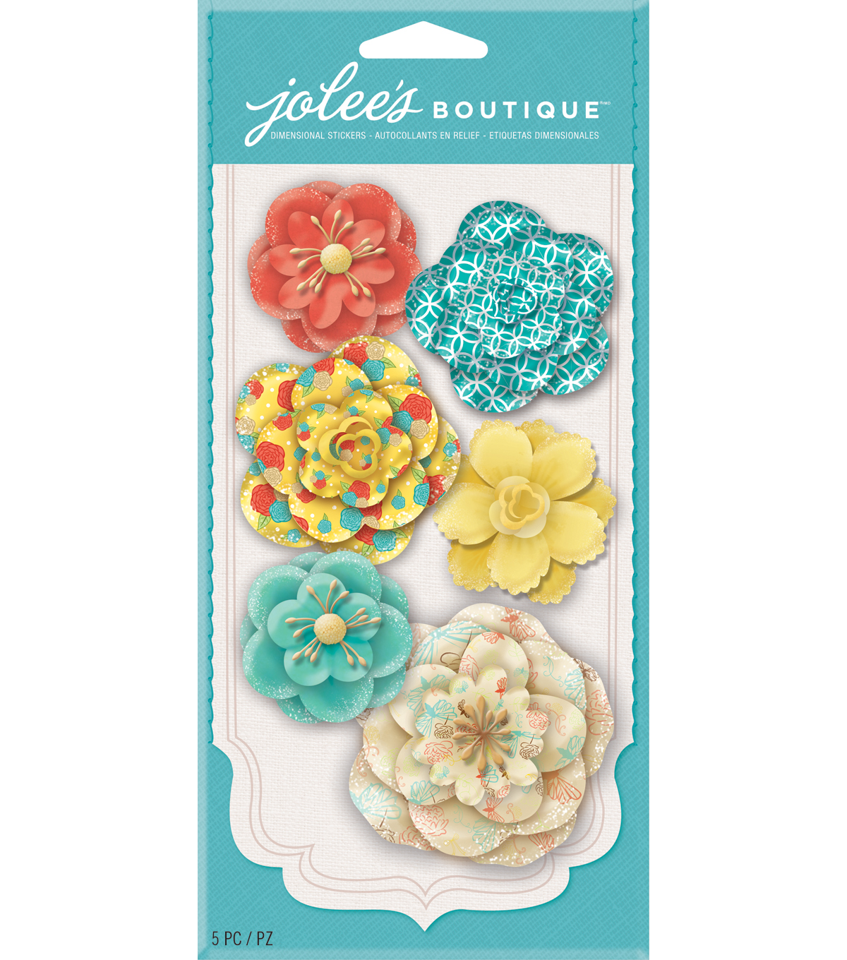 Jolee\u0027s Boutique-Bold Prints Paper Flowers