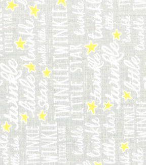 Nursery Fabric - Twinkle Twinkle Grey