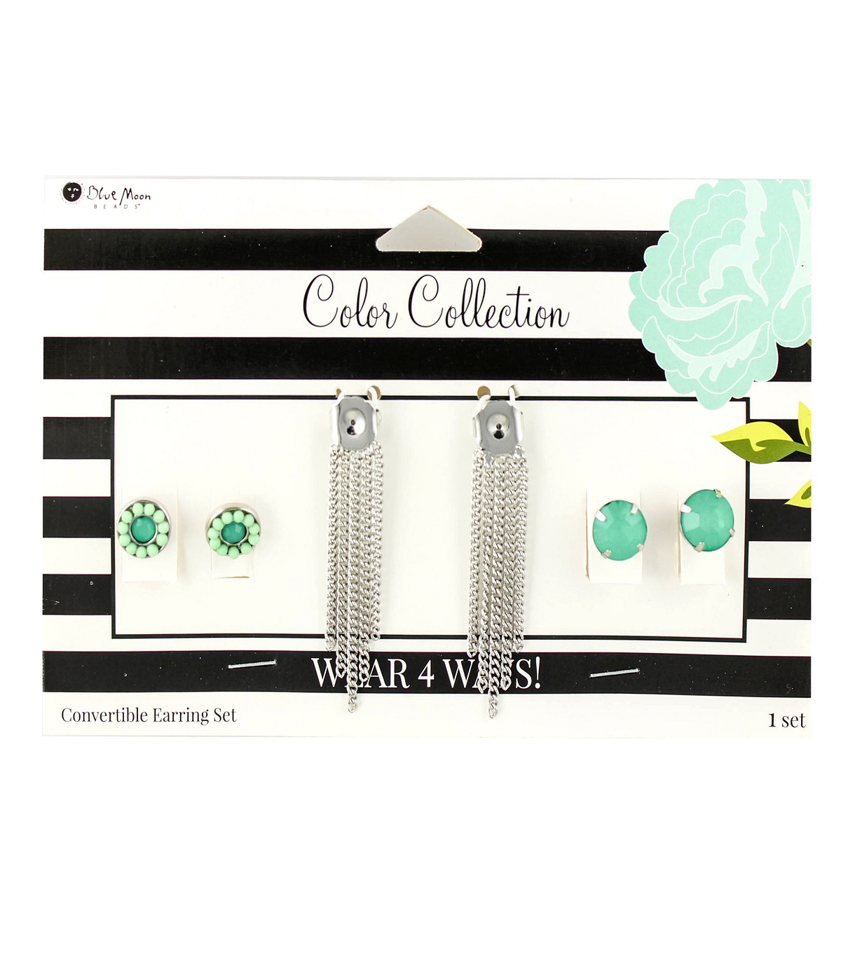Blue Moon Beads Color Collection Earring Mix & Match Pack-Mint Silver