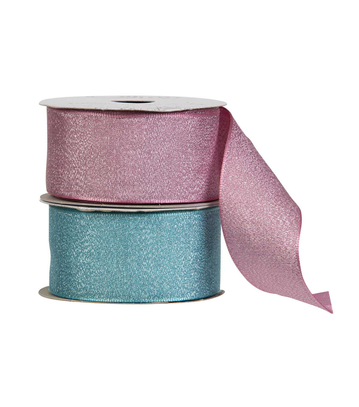 Offray 1.5\u0022x9\u0027 Luxe Metallic Woven Wired Edge Ribbon