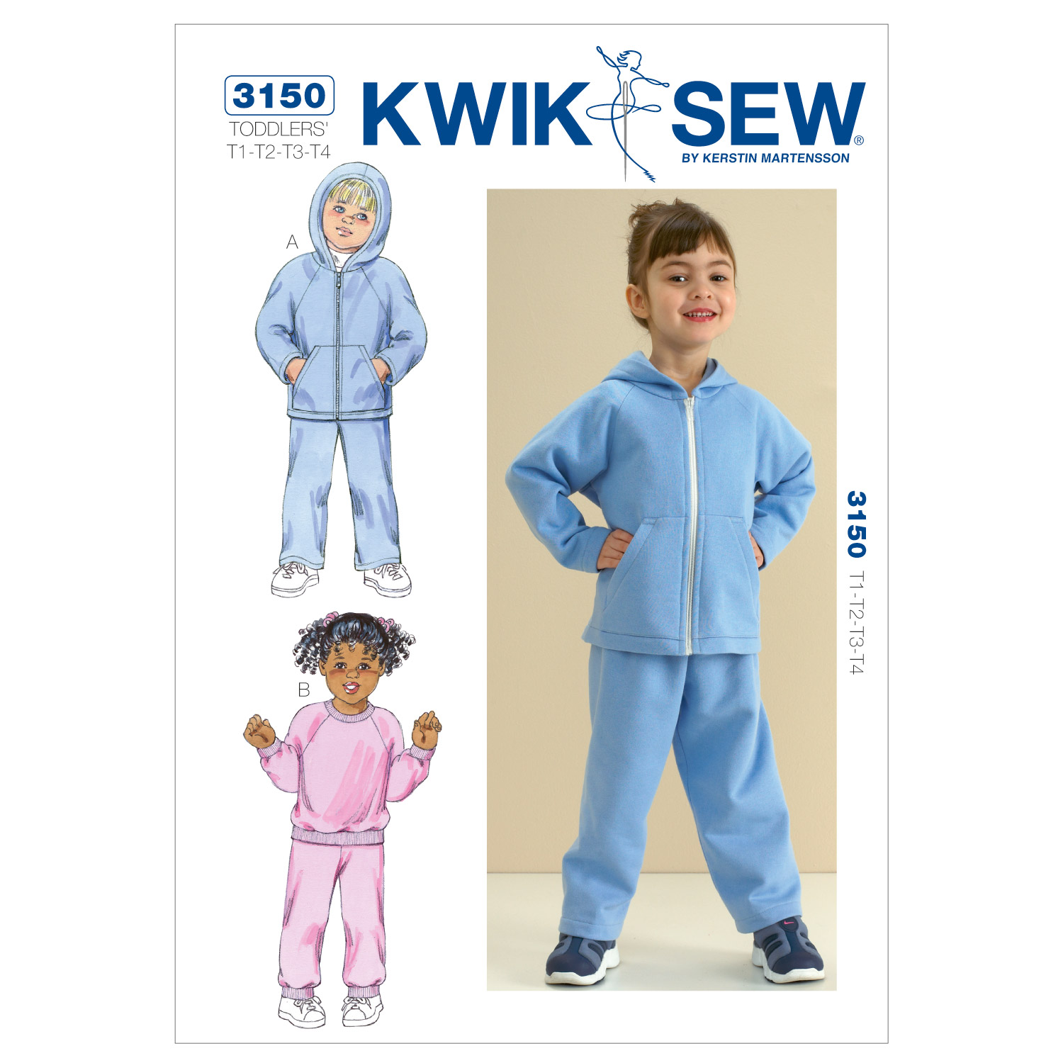 Kwik Sew Pattern K3150 Toddlers\u0027 Casual Outfits-Size T1-T4