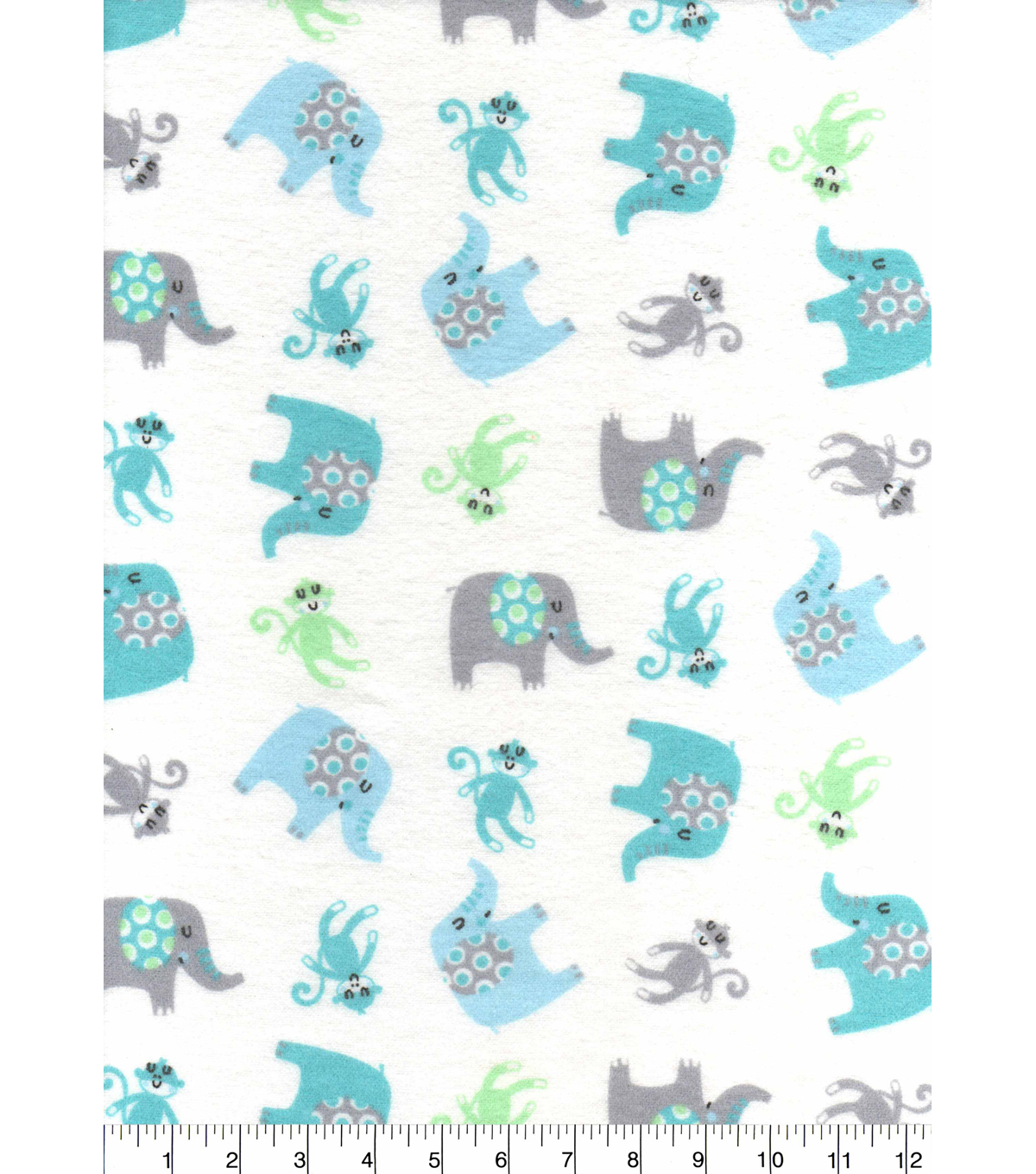 Nursery Flannel Fabric 42\u0027\u0027-Adventure Animals Tossed
