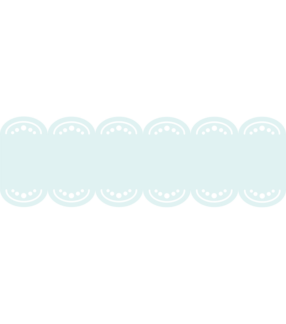 Wall Pops Baby Blue Stripe Decals, 24 Feet