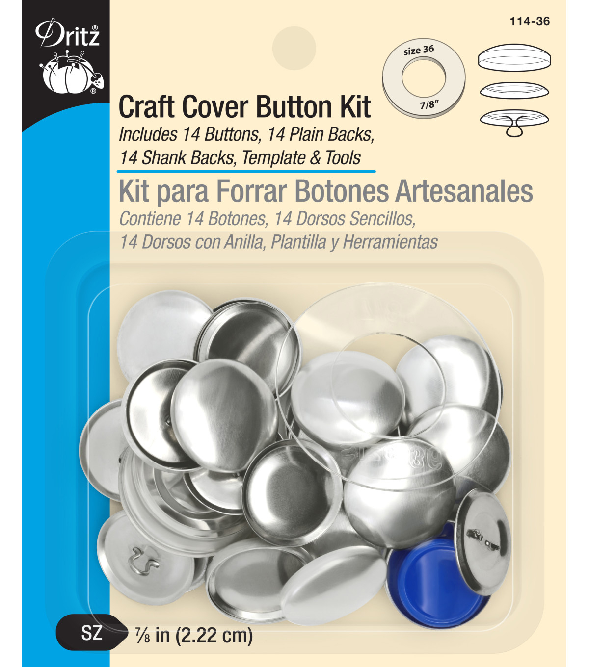 Dritz Craft Cover Button Kit Size 36