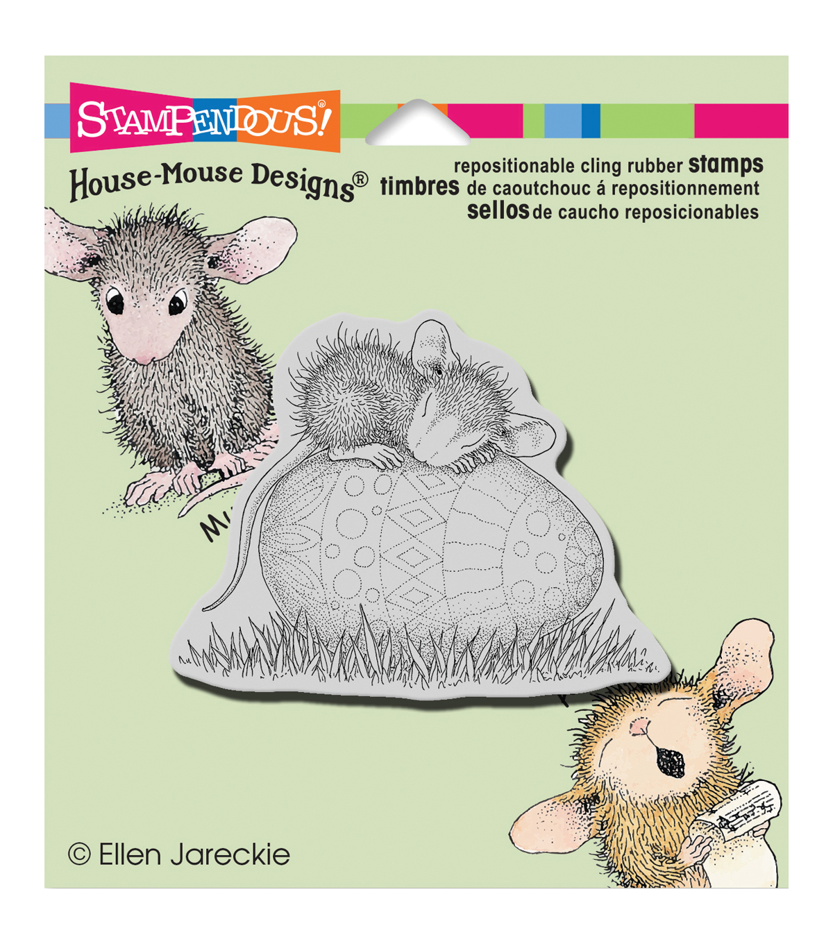 Stampendous House Mouse Easter Egg Nap Cling Rubber Stamp