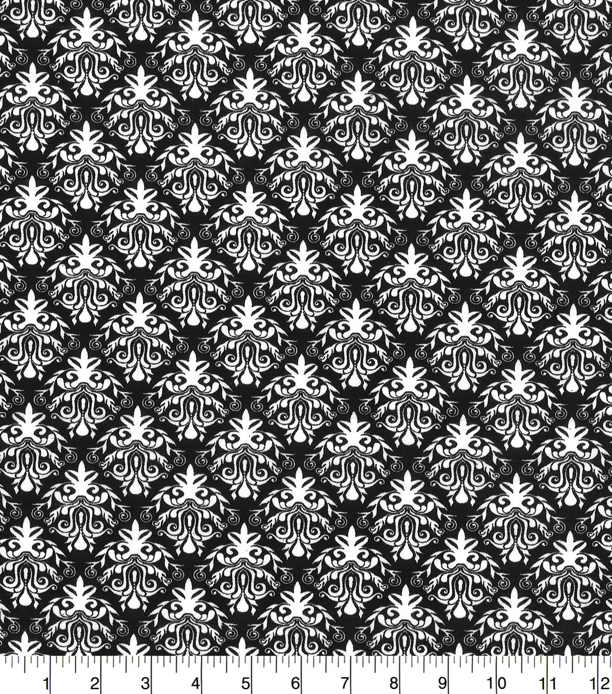 Quilter\u0027s Showcase™ Fabric 44\u0027\u0027-Black Damask