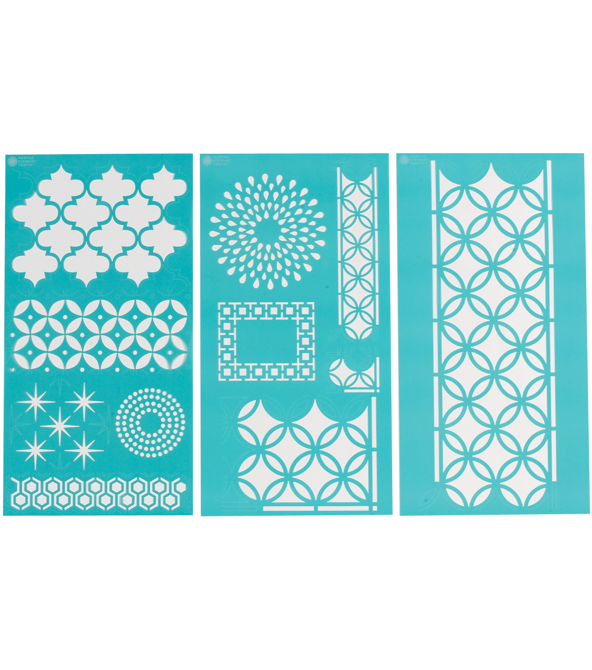 Martha Stewart Large Stencils 3 Sheets/Pk-Arabesque