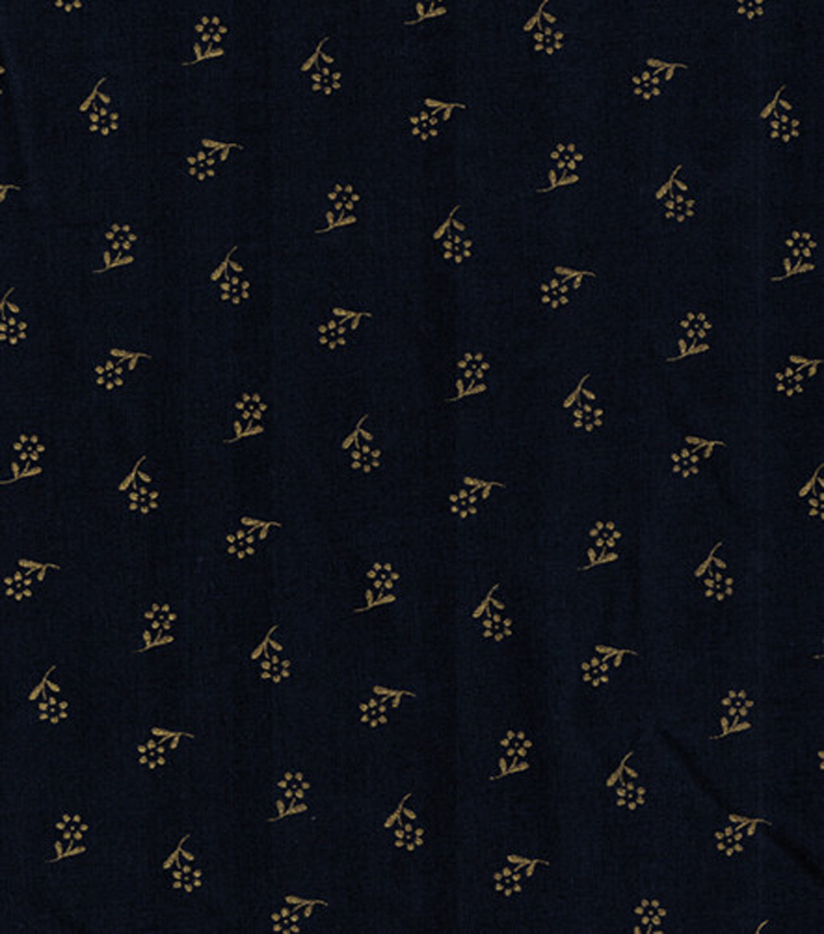 Keepsake Calico™ Cotton Fabric-Flowers On Navy With Gold Metallic