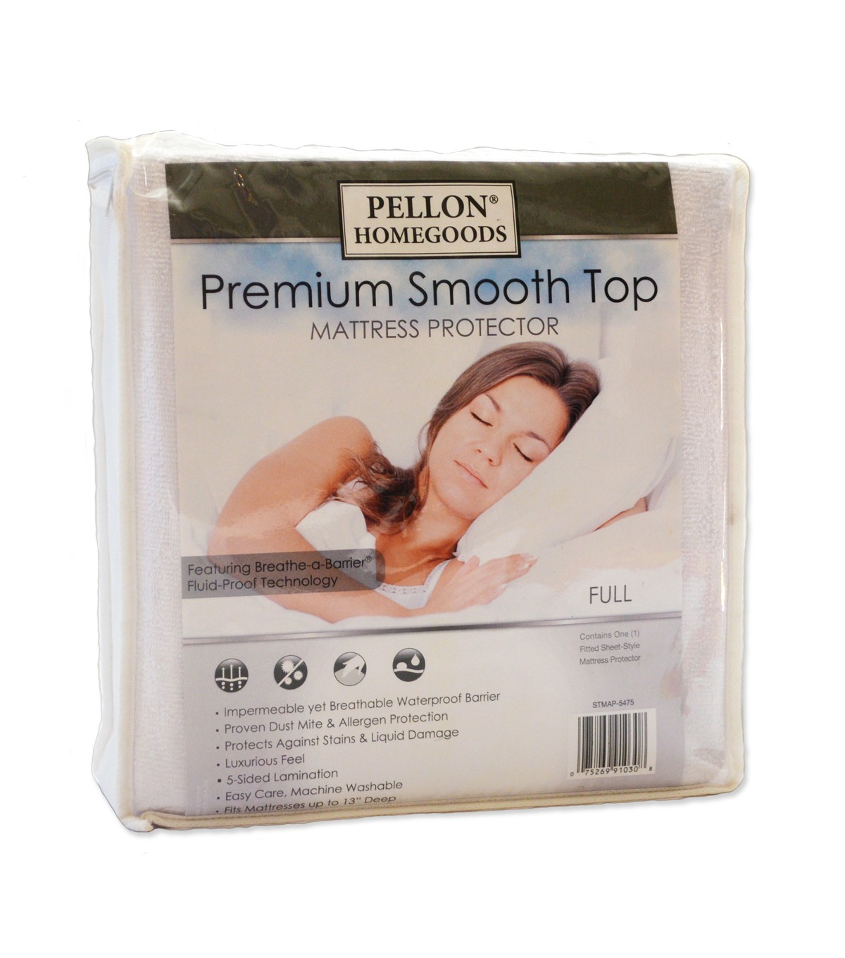 Pellon® Premium Smooth Top Mattress Protector Full 54\u0022 X 75\u0022