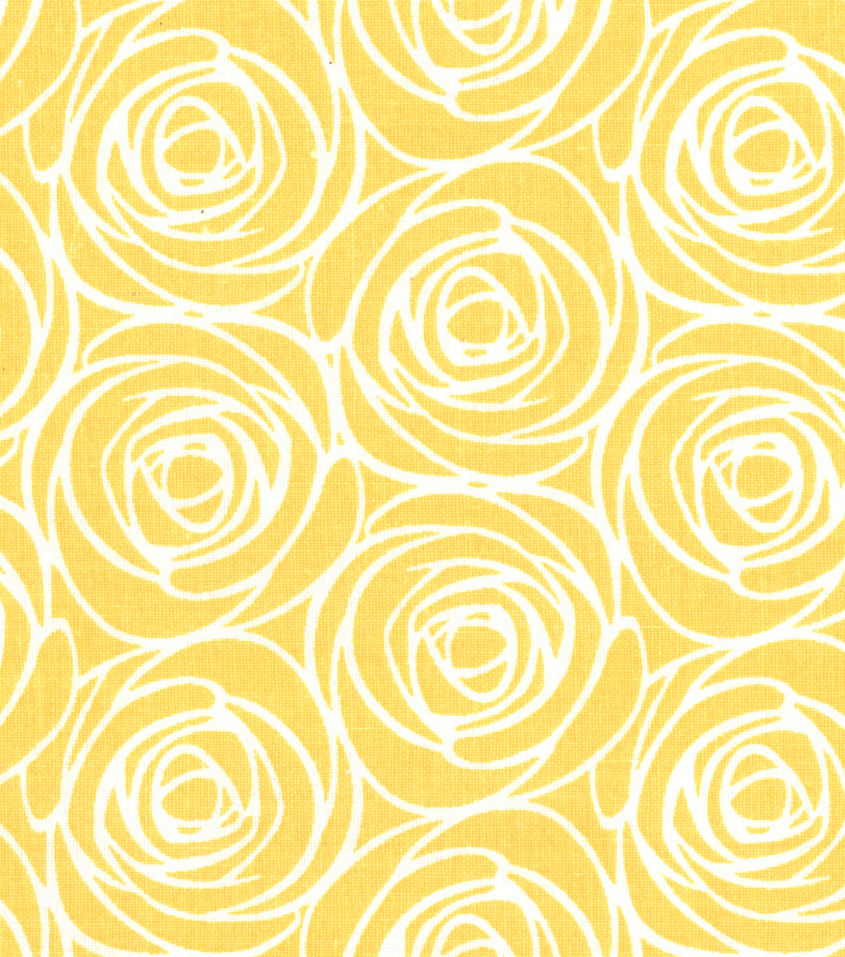 "Quilter's Showcase™ Cotton Fabric 44""-Floral Outline Yellow"