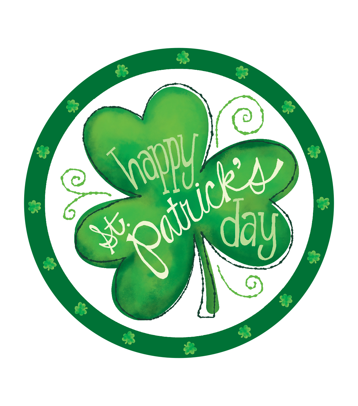 St. Patrick's Day 8 Count Guest Paper Plates-Shamrock