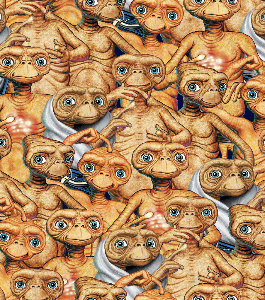 The Extra Terrestrial Cotton Fabric 43\u0022-Packed
